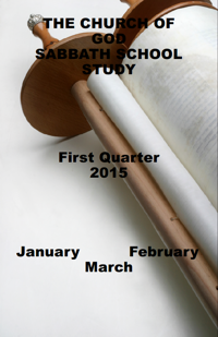 Church of God first quarter 2015 lesson book cover