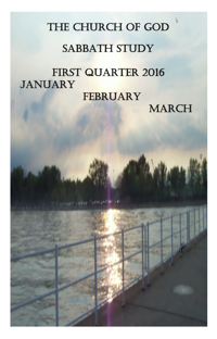 Adult lessons for first quarter 2016