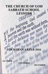 Adult lessons for third quarter 2016